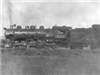 Black and white image of train engine Engine No. 206 in Fraser flats